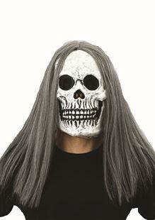 Picture of SKULL WITH HAIR