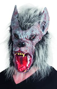 Picture of LATEX HEAD MASK WEREWOLF WITH HAIR