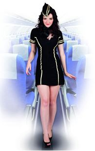 Picture of ADULT COSTUME FLIGHT ATTENDANT