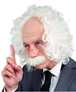Picture of WIG PROFESSOR WITH GLASSES AND MOUSTACHE