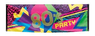 Picture of Banner 80's party 74x220cm