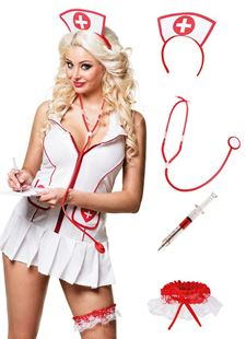 Picture of NURSE (TIARA, STETHOSCOPE AND GARTER WITH SYRINGE/PEN)