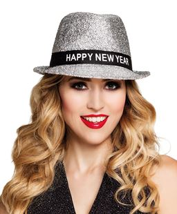 """Picture of GOLD GLITTER HAT """"Happy New Year"""""""