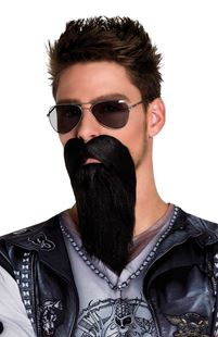 Picture of BEARD AND MUSTACHE BIKER