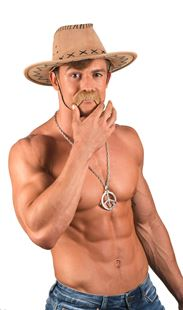 Picture of COWBOY HAT, FAKE LEATHER LOOK
