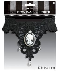 Picture of Cameo Choker Black & Bone One Size