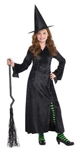 Picture of Children's Costume Witch BlackOne Size