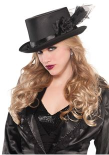 Picture of Embellished Top Hat Black